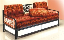 Mild Steel Brown Stylish Sofa Cum Bed, Size: Contemporary, Model Name/Number: Dcb 202