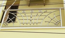 Stainless Steel Balcony Railing, For Home, Material Grade: SS304