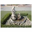 White Outdoor Stone Fountain