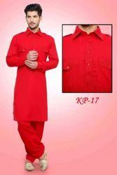 Red Colour Kurta Pyjama