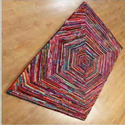 Multicolor Hand Woven Chindi Tufted Recycled Rugs