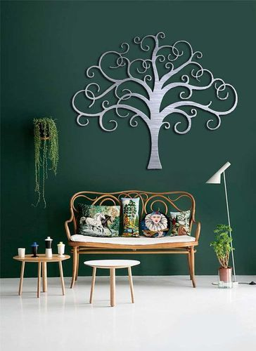 Tree metal wall art