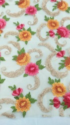 Round Net Embroidery Fabric