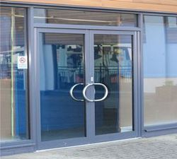 Aluminium Hinged Door With Wire Mesh