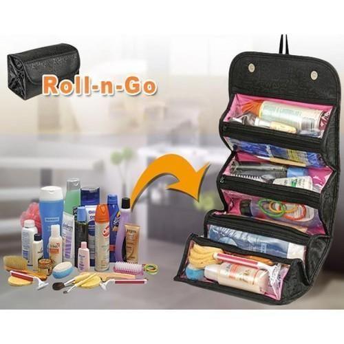 2b5e61d7966a Genuine 4 In 1 Travel Buddy Roll N Go Cosmetic Bag Toiletry