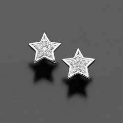 Diamond Studded Star Shape Earring