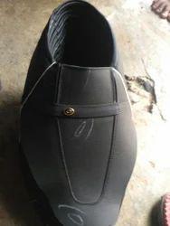 Men Black Leather Uppers Shoe, Size: 6-10
