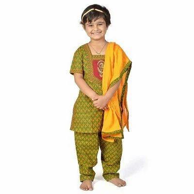 02fc118b4e Kid Apparels - Rajasthani Booti Work Lehenga Kurti 103B Manufacturer ...