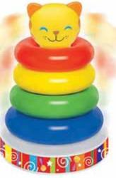 Baby Boys Musical Toddler Ring Kitty Roly Poly