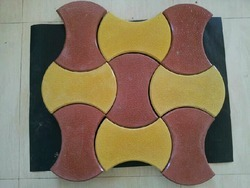Concrete Red, Yellow etc. interlocking Dumble Paver Block, For Pavement, Thickness: 60 Mm