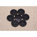 Round Black Polyester Buttons, For Garments, Packaging Type: Packet