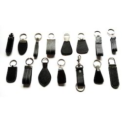 Black and Brown Leather Key Rings