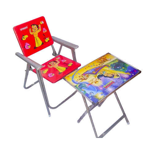 Aluminum Baby Study Folding Table And Chair Age Of Kid 4 To 8