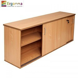 Sliding Wooden Office Storage