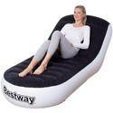 Bestway 75064 Lounge Chair Sofa, L Shape Inflatable Sofa 165