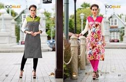 Fancy Cotton Floral Kurtis