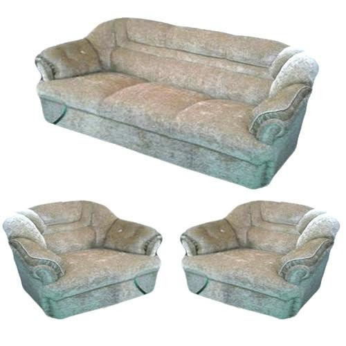 Superieur Velvet Fabric Sofa Set