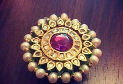 Kundan Polki with Ruby Ring