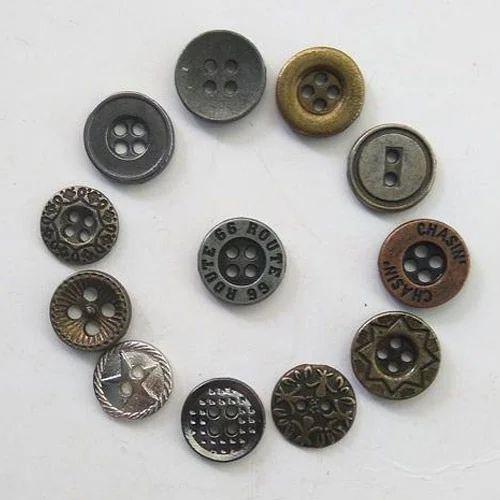 80ce813a58 Metal Shirt Button, Cufflink, Buttons, Zippers & Buckles | Kajal ...