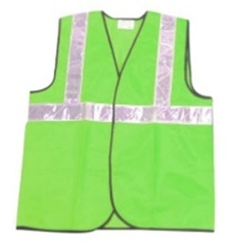 Udit 2 Inch Green Reflective Polyester Safety Jacket Pack Of 10