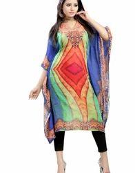Casual Wear Digital Printed Ladies Kaftan