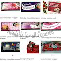 Greeting Card & Chocolate Wrapper