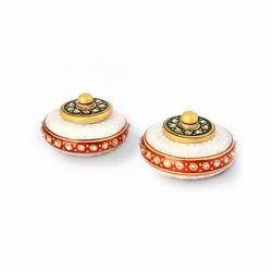 Jaipuri Golden Sindoor Box Pair 402