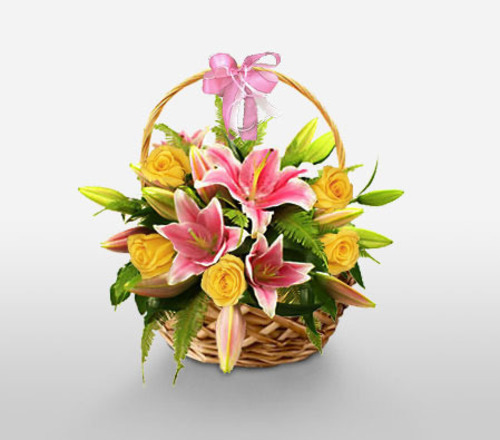 Lilies In Basket