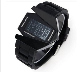 BYC Digital Black Dial LED Sports Watch for Men