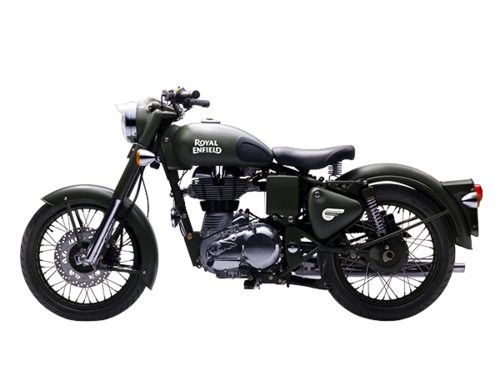 Classic Battle Green Motorcycle - Royal Enfield, Hyderabad