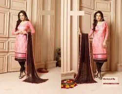 Mirror Work Glace Cotton Wedding Suits