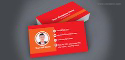 Business Card Template Red