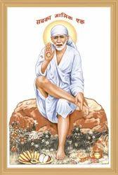 Sai Baba God Picture Tile