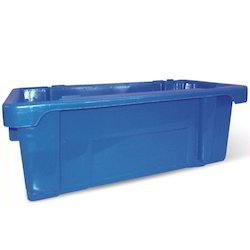 Blue Solid Box Milk Pouch Crates