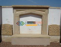 Stone Fireplace in Yellow Sandstone