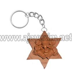 Decorative Star Ganesha Keychain