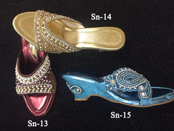 ethnic indian wedding ladies sandals in colors