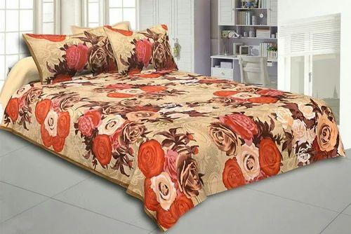 Fl Print Jaipuri Cotton Double Bed Sheet Set