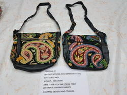 Pure Leather Hand-Embroidered Bags