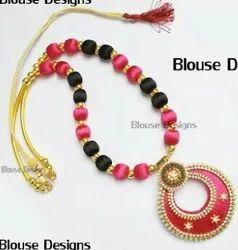 Star All Silk Thread Necklace