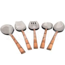 Krish Copper Hammered Bamboo Kitchen Tools
