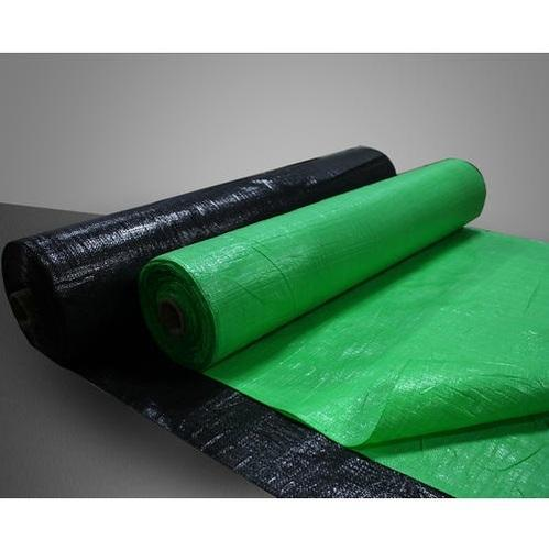 Black And Green Printed HDPE & PP Woven Lumber Cloth Fabrics, Use: Bag
