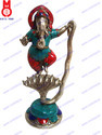 Cobra RD. Base Fine W/Stone Work Lord Ganesha Dancing Statue