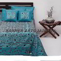 Bed Cover Silk Phulkari Embroidery Full