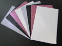 Glitter paper for craft and scrapbook