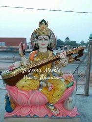 Maa Saraswati Marble Sculpture