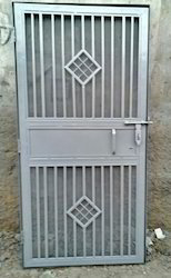 White Standard Iron Safety Door for Home, Size/Dimension: 7*3