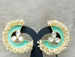 Color Stone Designer Stud Earring