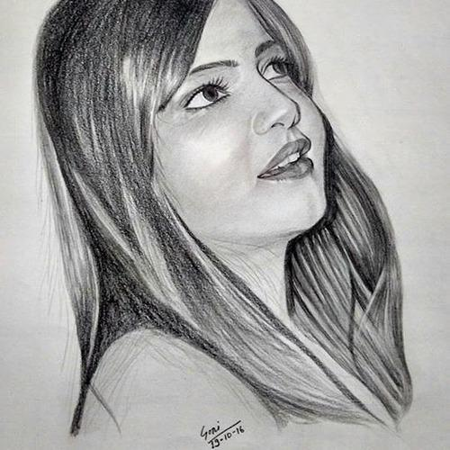 Gift the realistic handmade pencil sketch portrait size a3