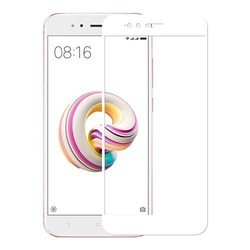 Xiaomi A1 Full White Tempered Glass